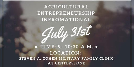 Agricultural Entrepreneurship Informational