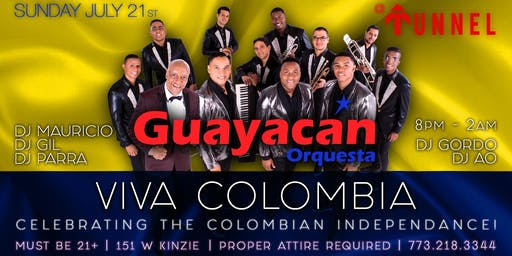 This Sunday Orquesta Guayacan Live at Tunnel Chicago