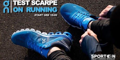 Test Scarpe ON Running biglietti