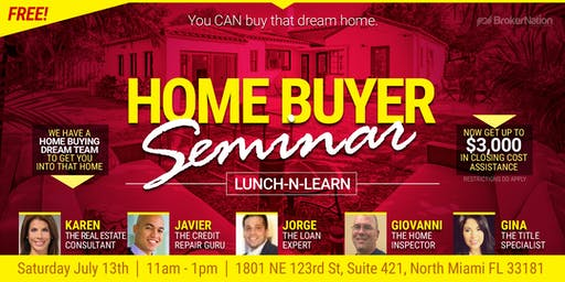 Home Buyer Seminar - Lunch-n-Learn with The Real Estate Dream Team