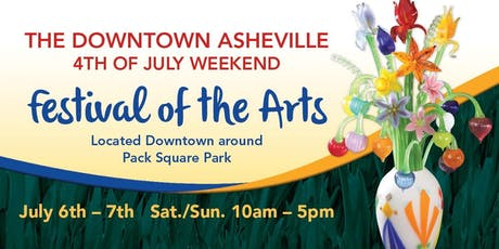 3rd Annual Downtown Asheville 4th of July Weekend Festival of the Arts tickets