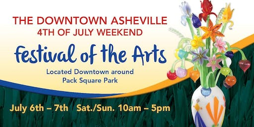 3rd Annual Downtown Asheville 4th of July Weekend Festival of the Arts