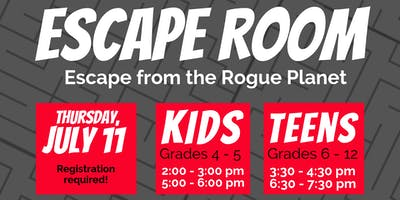 Kids Escape Room: Escape from the Rogue Planet