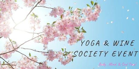 Yoga by Dena & Wine Society Event at Vino Nostra Wine Bar  tickets