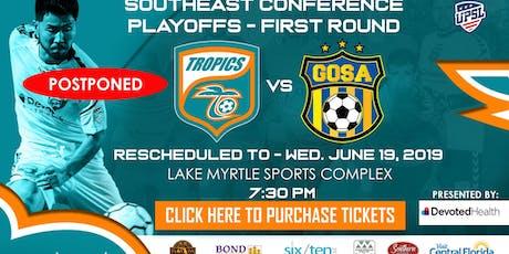 Tropics SC UPSL Playoff Round 1 tickets