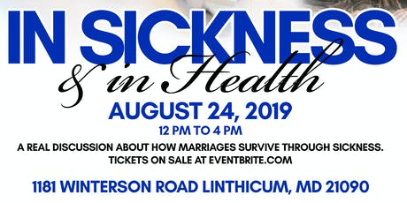 In Sickness and in Health tickets