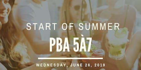 PBA Start of Summer Investor Networking Cocktail 5à7 tickets