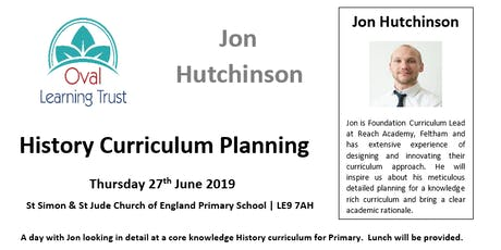 Jon Hutchinson | History Curriculum Planning Workshop tickets