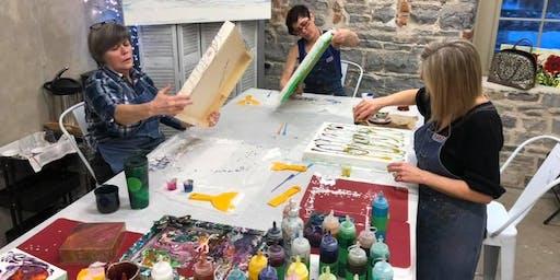 Liquid Glass Level 2; A Pouring Medium Workshop - at the Farm