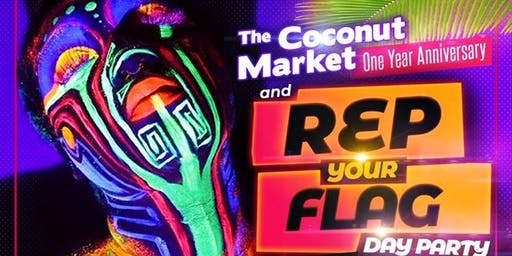 Rep Your Flag Day Party and One Year Anniversary -The Coconut Market