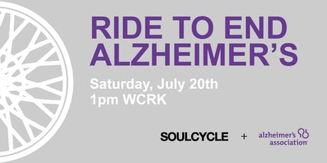 2019 Ride to End Alzheimer's :: SoulCycle Charity Ride!  tickets