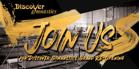 Reminder and Updated Info! Discover Gymnastics 20th Year Grand Re-Opening! tickets