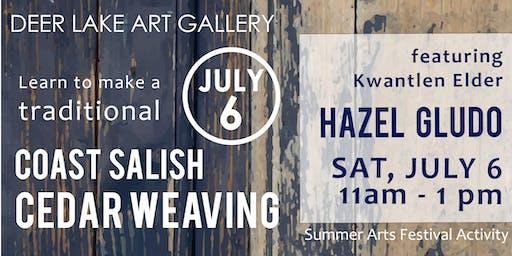 Traditional Coast Salish Cedar Weaving with Kwantlen Elder Hazel Gludo