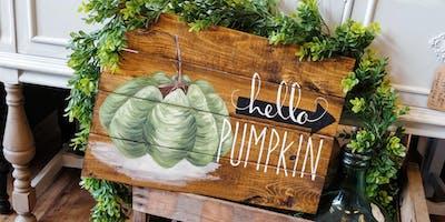 Hello Pumpkin Paint Night