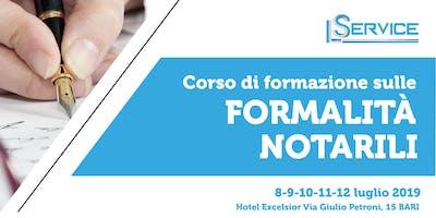 Corso di Formazione sulle formalità Notarili | 8/9/10/11/12-07-2019