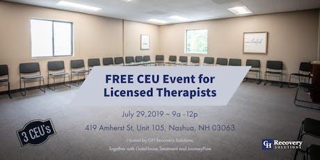 CEU Event - Innovative Addiction Approaches tickets
