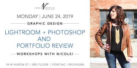 Graphic Design Workshops: Photoshop/Lightroom + Portfolio Review tickets