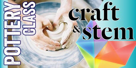 Fundamentals of Clay - Adult Pottery Class: Saturday Morning 10:30 - 12:30 tickets
