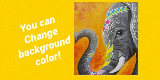 Boho Elephant Paint Night
