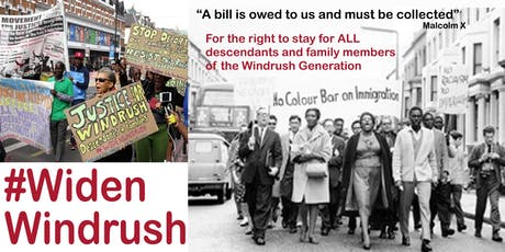 Widen Windrush Discussion & National Lobby round up tickets