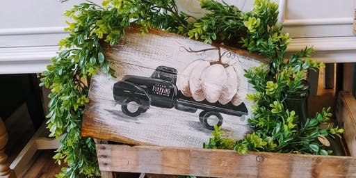 Vintage Pumpkin Truck Paint Night