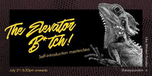 The Elevator B*tch! Self-introduction masterclass - Shesays x Like Minded Females