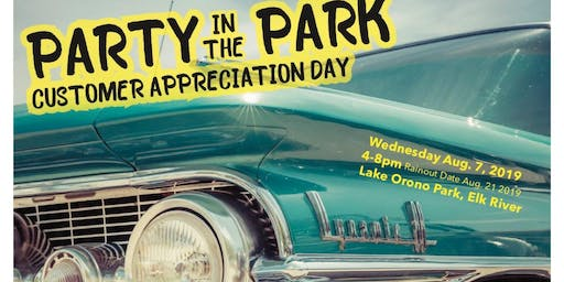 Party in the Park- Customer Appreciation Day