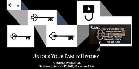 Unlock Your Family History tickets