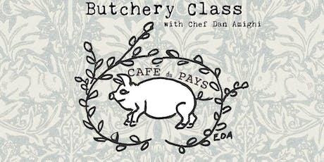 Butchery Class @ Café du Pays with Chef Dan Amighi tickets