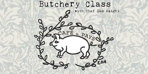 Butchery Class @ Café du Pays with Chef Dan Amighi