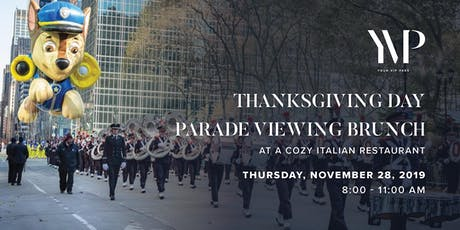 Thanksgiving Day Parade NYC Viewing Brunch at a Cozy Italian Restaurant tickets