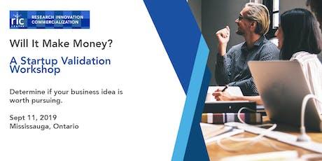 Will It Make Money? A Startup Validation Workshop tickets