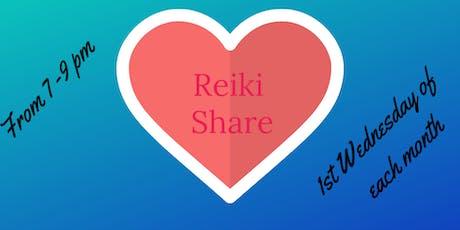 July Reiki Share tickets
