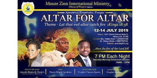 Altar for Altar Conference            Let the Evil Altar Catch Fire