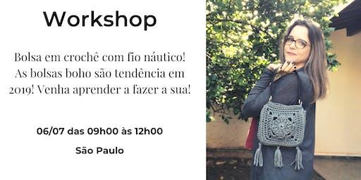 Workshop Bolsa Elisa em fio náutico!