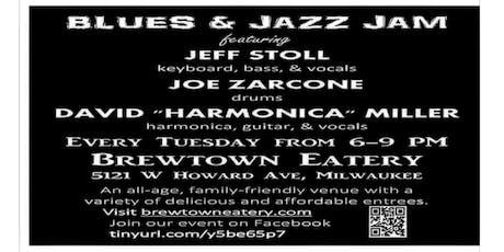 "Blues & Jazz Jam with Jeff Stoll, Joe Zarcone, and David ""Harmonica"" Miller tickets"
