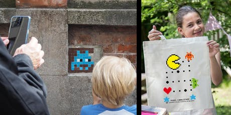 PIXEL CHALLENGE : CHASSE AUX SPACE INVADERS + ATELIER SÉRIGRAPHIE billets