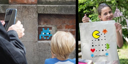 PIXEL CHALLENGE : CHASSE AUX SPACE INVADERS + ATELIER SÉRIGRAPHIE