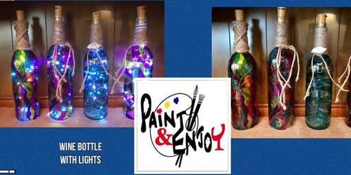 "Paint and Enjoy at Naylor Wine Shoppe ""Wine Bottle"" with lights"