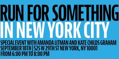 NYC for Run for Something! tickets