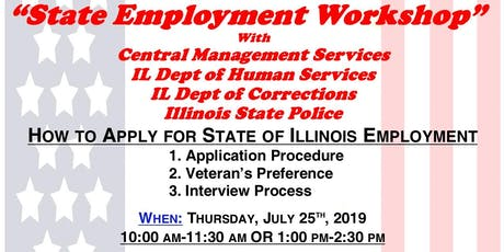 State Employment Workshop with CMS, IDHS, IDOC & ISP (AH) tickets