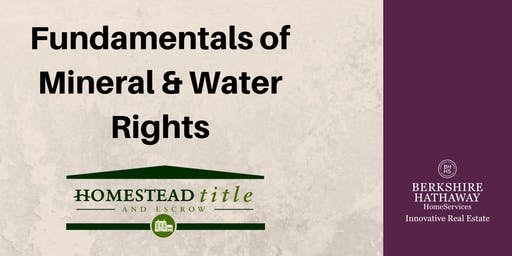 Fundamentals of Mineral & Water Rights