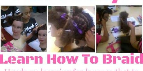 Kween Academy: Beginner's Braiding Course Level 1&2 tickets
