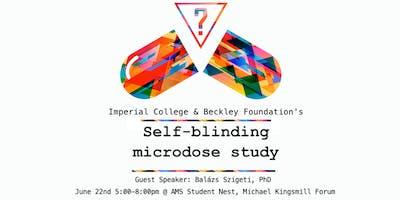 Self-Blinding Microdosing Talk at UBC