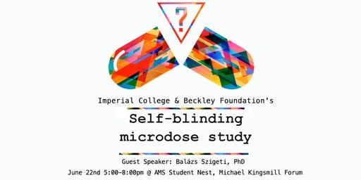 Self-Blinding Microdosing Talk at UBC
