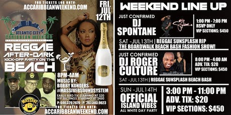 REGGAE SUNSPLASH BEACH BASH AFTER-PARTY HOSTED BY: ROGER CULTURE tickets