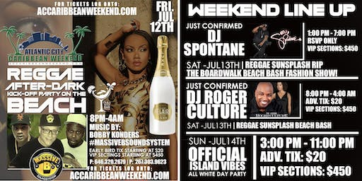 REGGAE SUNSPLASH BEACH BASH AFTER-PARTY HOSTED BY: ROGER CULTURE