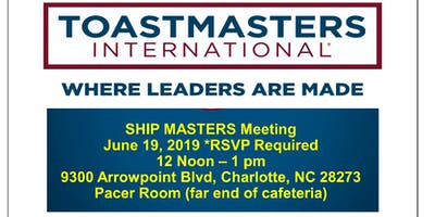 Ship Masters Toastmasters Club Meeting
