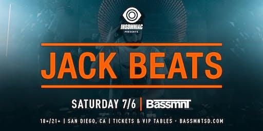 Jack Beats at Bassmnt Saturday 7/6