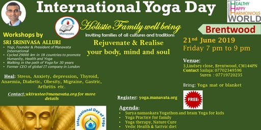 International Yoga Day Event - Brentwood